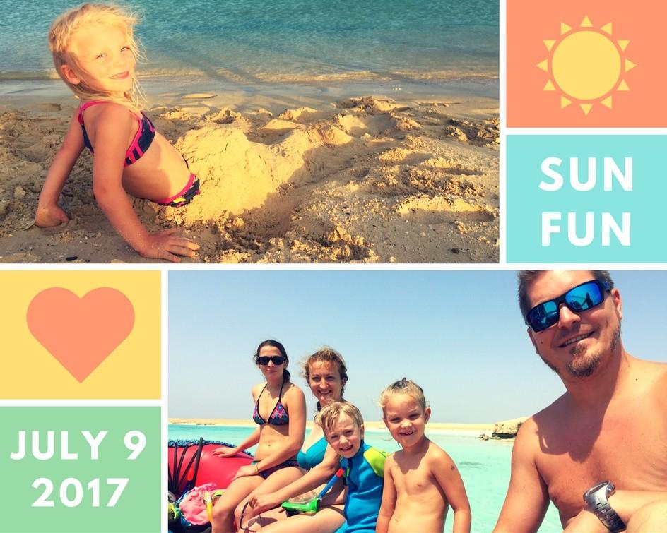 Egyiptomi tengerparti családi nyaralás