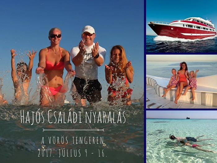 hajós családi nyaralás Egyiptomban