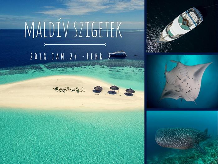 Búvárszafari Maldív szigetek 2018